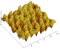 AFM images of nanopatterned FTO: nano lines